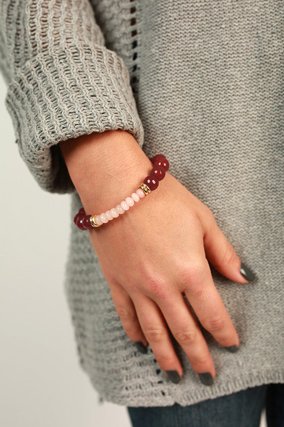 Fashion Week Stackable Bracelet in Maroon