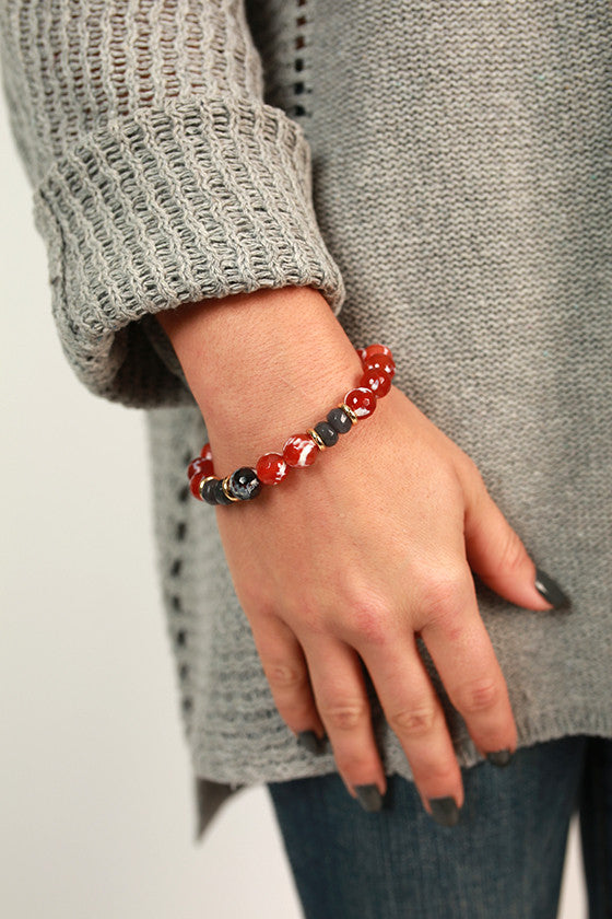 Fashion Week Marble Stackable Bracelet in Rust