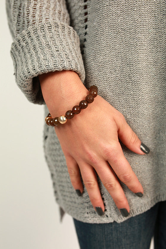 Fashion Week Stackable Bracelet in Mocha