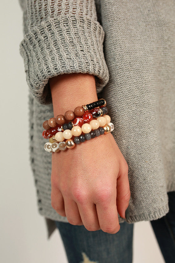 Fashion Week Stackable Bracelet in Champagne