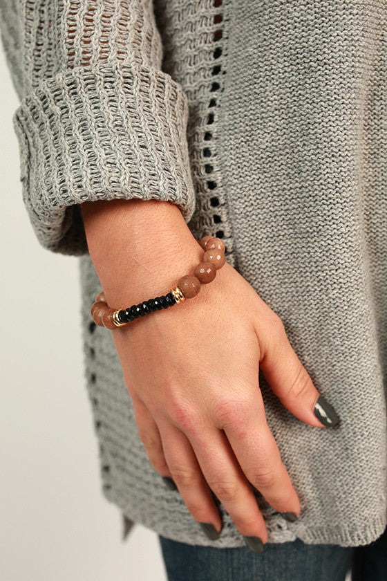 Fashion Week Stackable Bracelet in Tan
