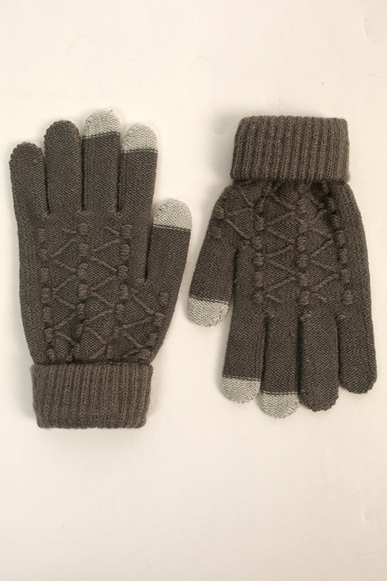 Let's Chat Tech Gloves in Grey