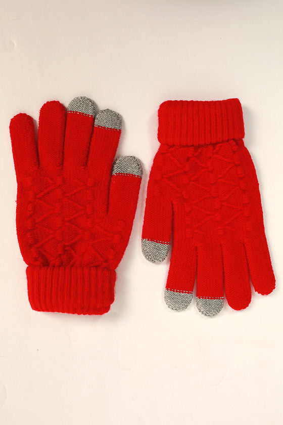 Let's Chat Tech Gloves in Red