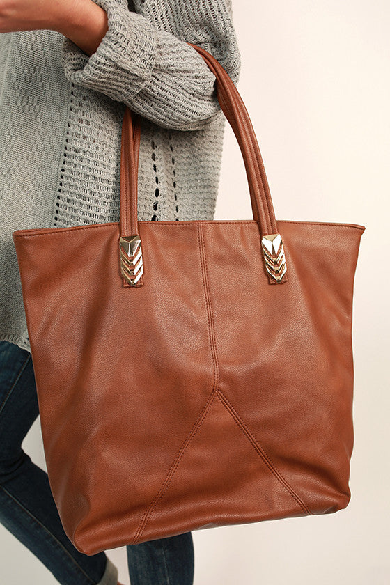 City Life Tote Bag in Copper