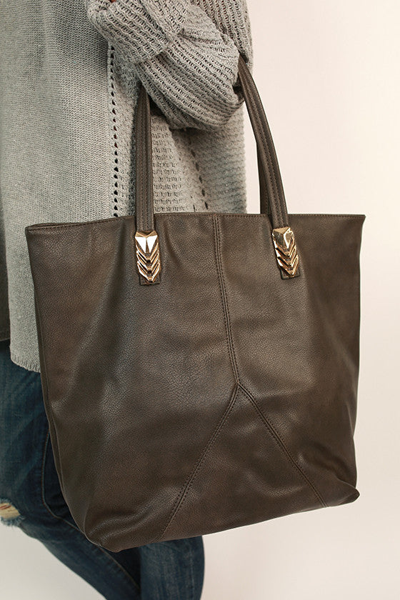 City Life Tote Bag in Smokey Black