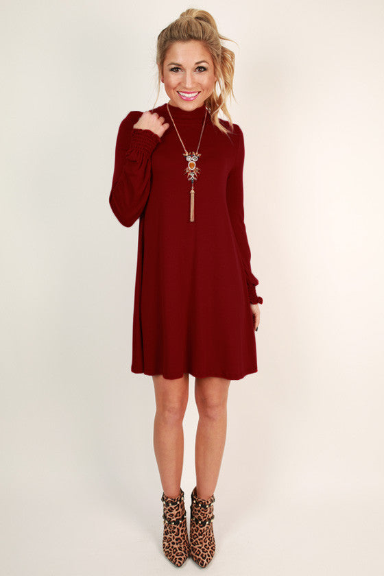 Perfect Poise Shift Dress in Red