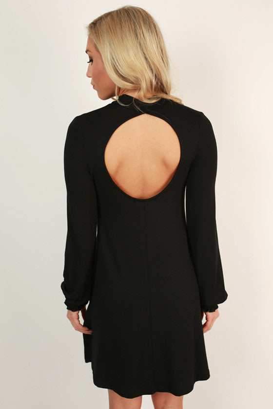 Perfect Poise Shift Dress in Black