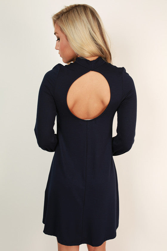 Perfect Poise Shift Dress in Navy