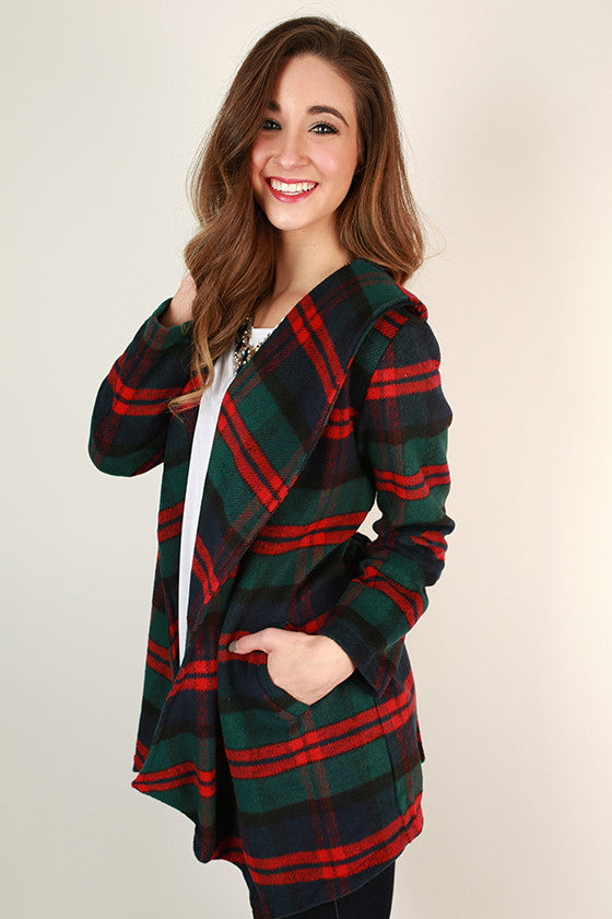 Sitting Pretty in Plaid Jacket