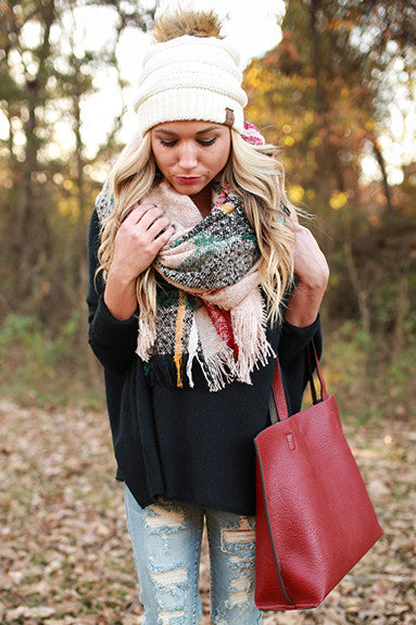 Plaid Pick me Up Blanket Scarf
