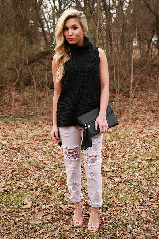 Sweet on Sonoma Sleeveless Sweater in Black