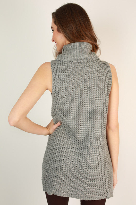 Sweet on Sonoma Sleeveless Sweater in Grey