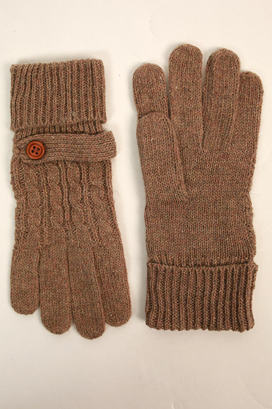 Feelin' Cozy Gloves in Light Mocha
