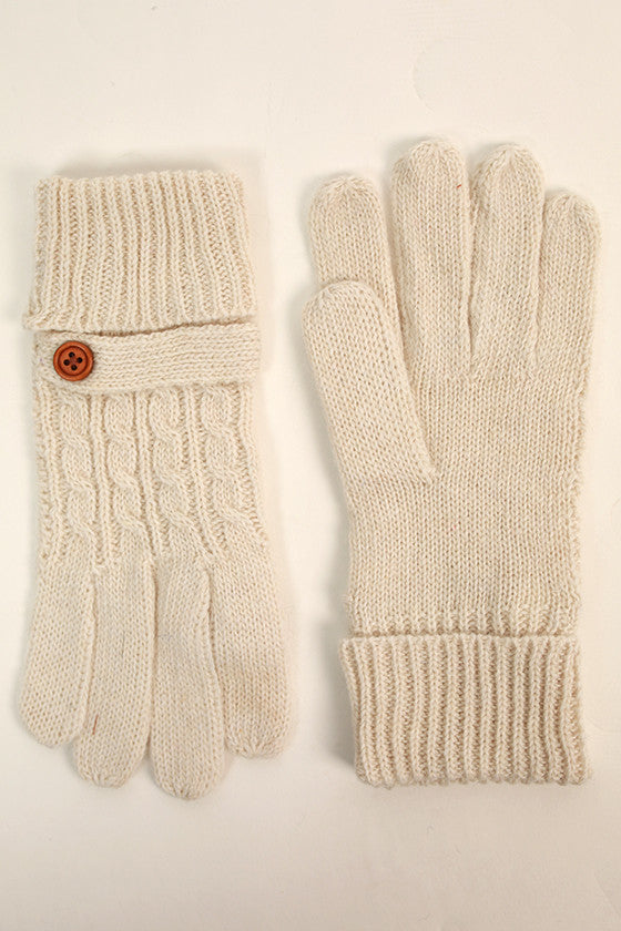 Feelin' Cozy Gloves in Ivory