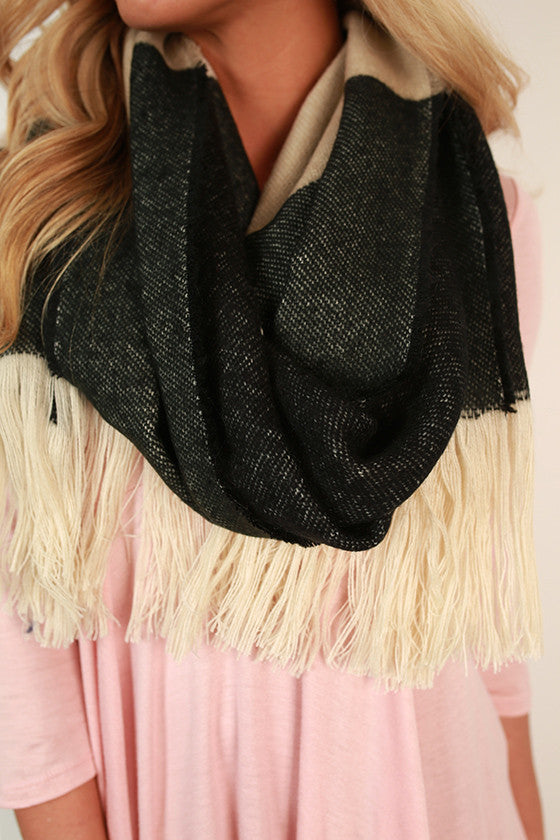 Stripes in The City Scarf in Black