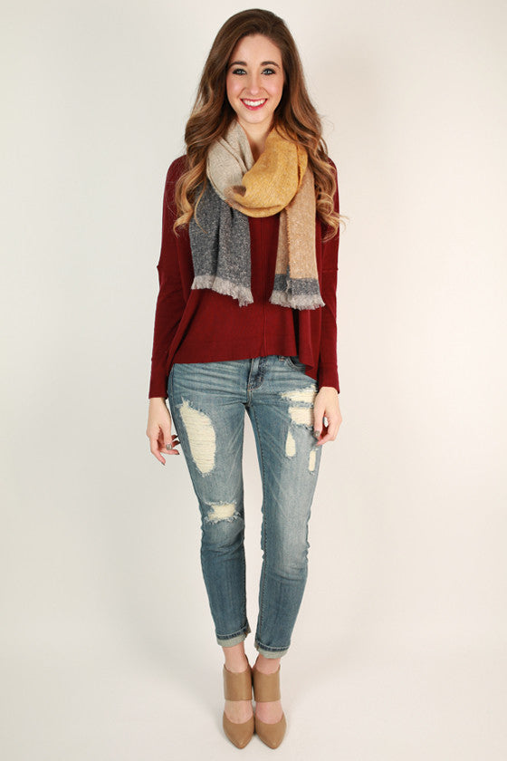 Full of Sunshine Scarf in Mustard