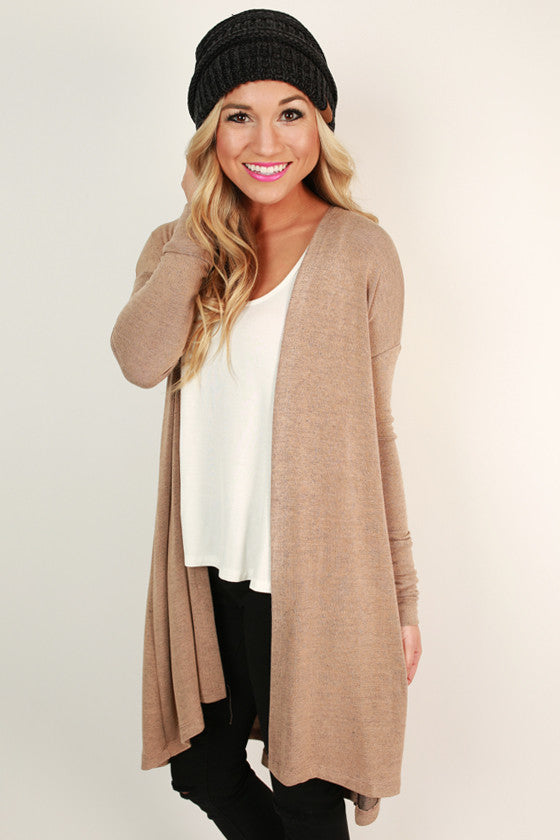 Chalet Cozy Cardigan in Khaki