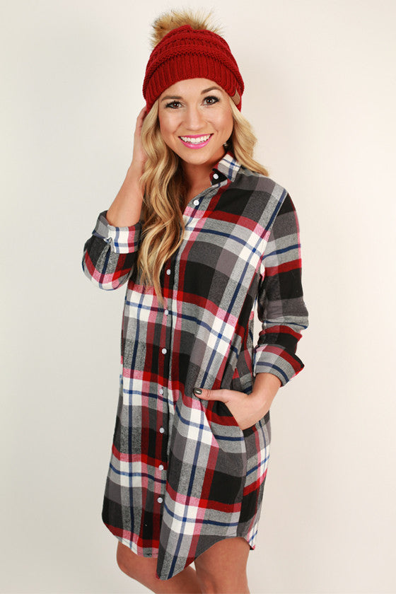 Winterberry Plaid Flannel Tunic