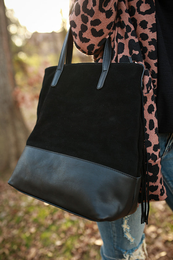 The Downtown Tote Bag in Black