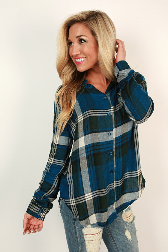 Colorado Keepsake Plaid Top