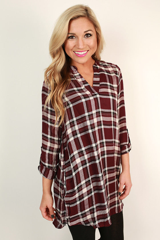 Making Memories Plaid Tunic