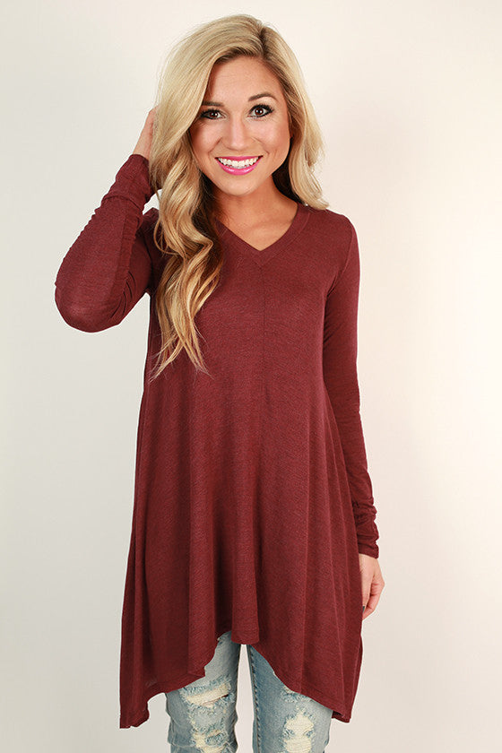 Swing On By Tunic in Cabernet