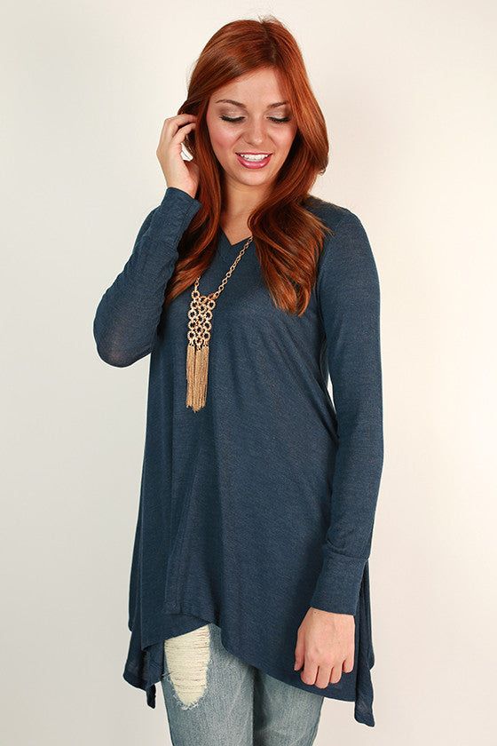 Swing On By Tunic in Indigo Blue