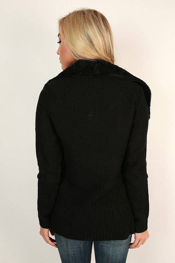 Cabin Cuddles Cardigan in Black