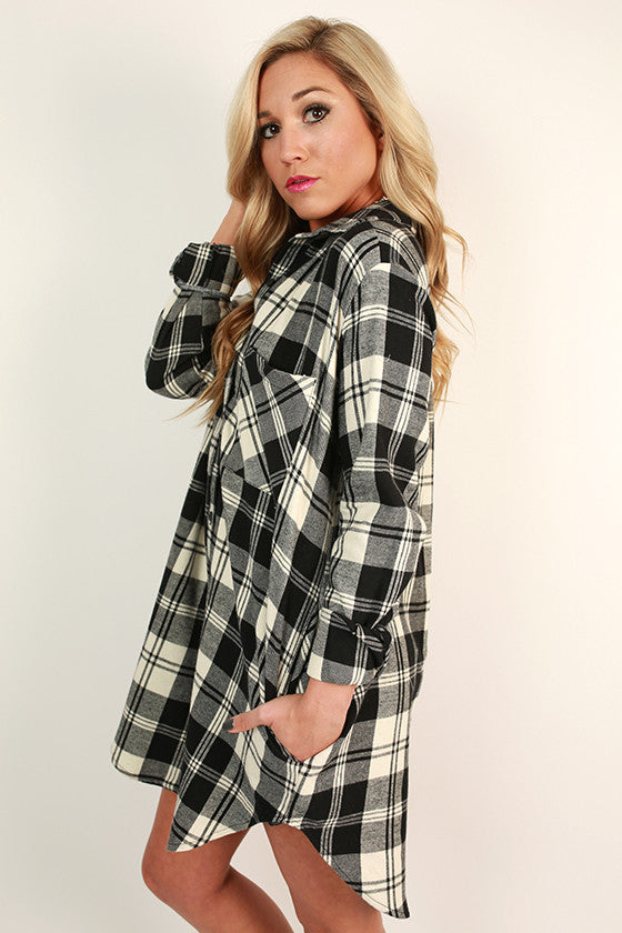 Roadtrip Plaid Tunic