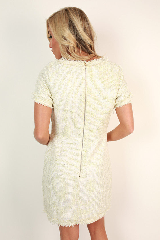 Mademoiselle Mini Dress in Ivory
