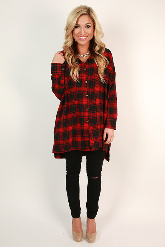 Merlot & Cuddles Check Tunic