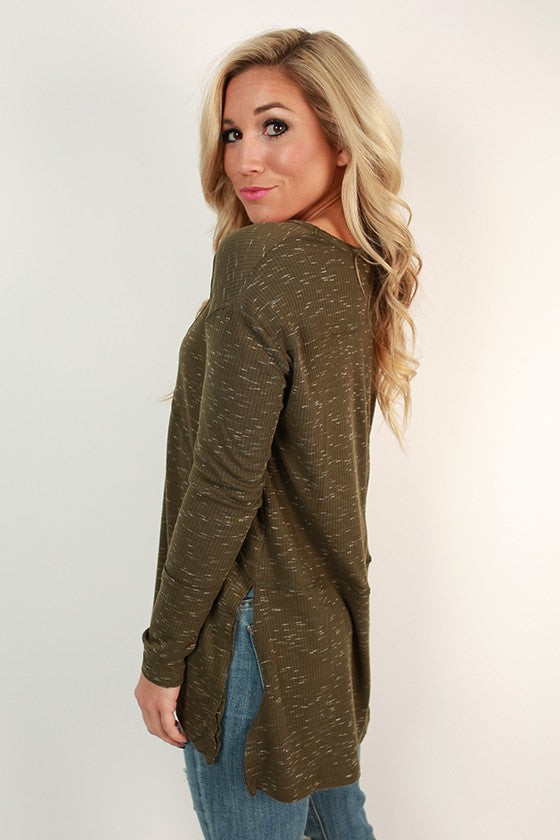 Cottage Cuddles Top in Army Green