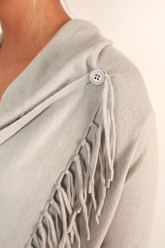 Afternoon in The Alps Cardigan in Light Grey
