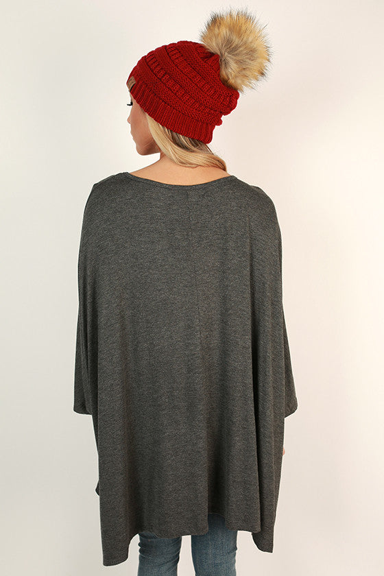 Rain Dance Top in Dark Grey