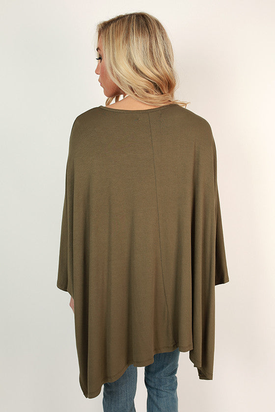 Rain Dance Top in Army Green