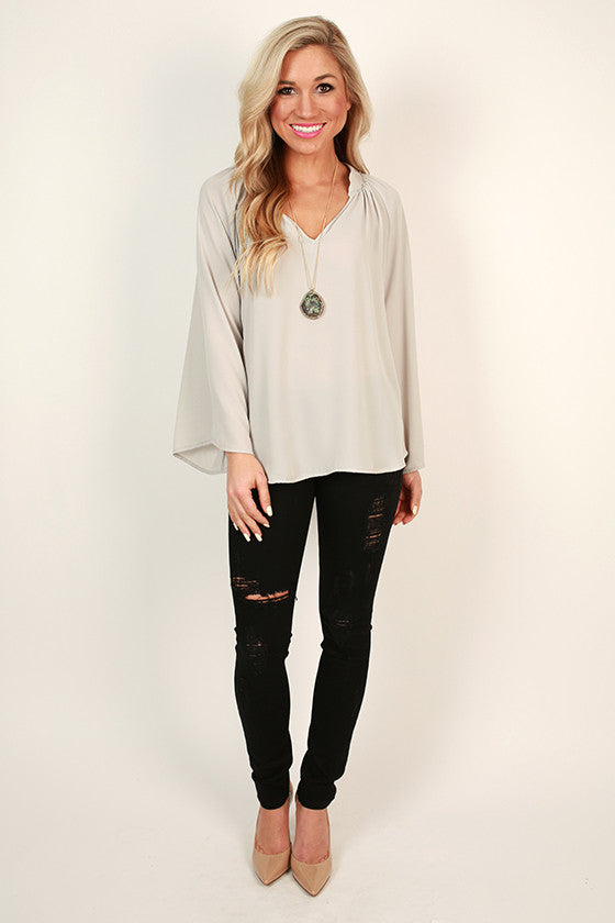 Audrey Midrise Distressed Skinny in Black