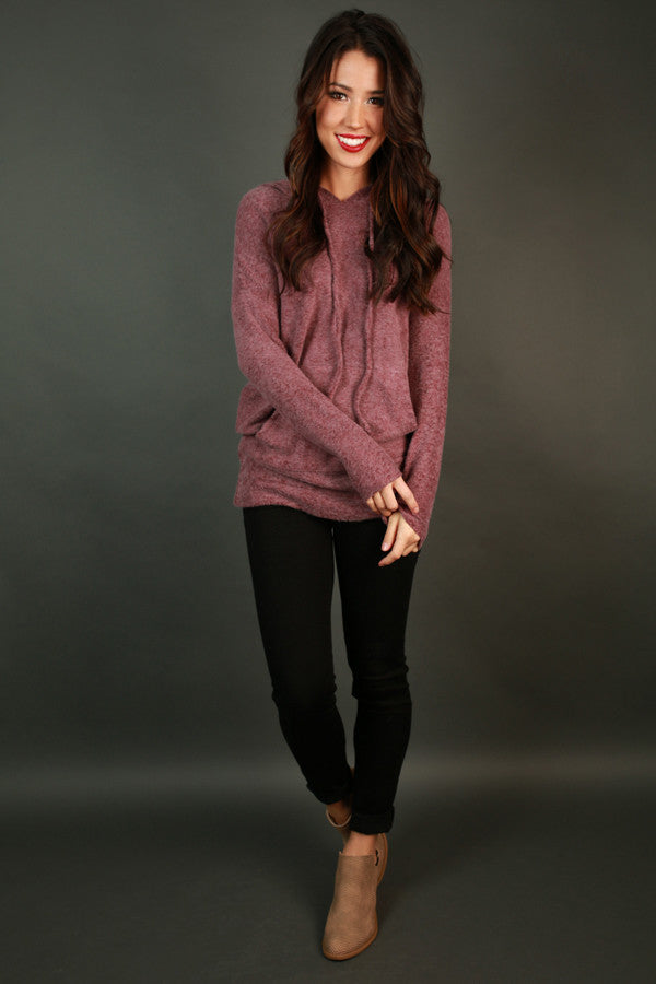 Cozy Days Ultra Soft Hoodie in Sangria