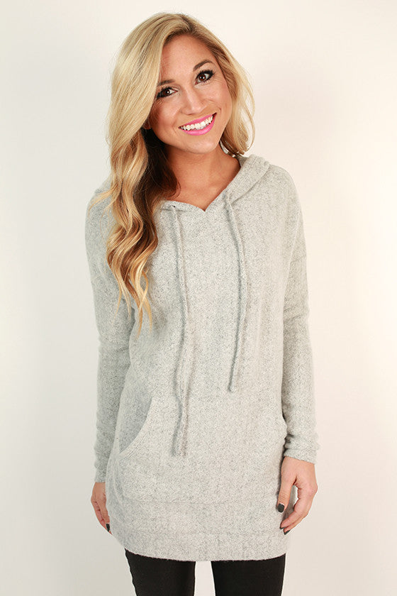 Cozy Days Ultra Soft Hoodie in Light Grey
