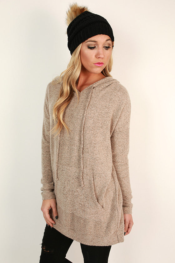 Cozy Days Ultra Soft Hoodie in Taupe