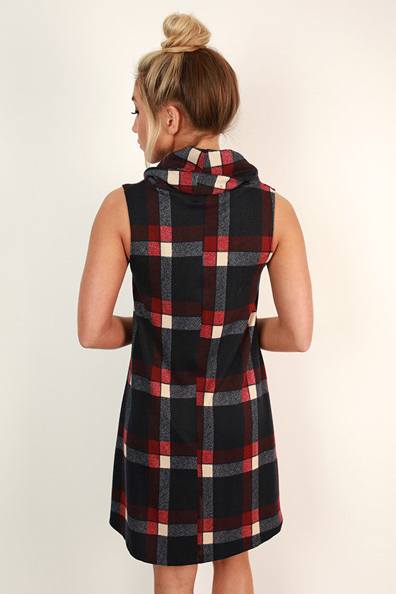 All Eyes on Plaid Shift Dress