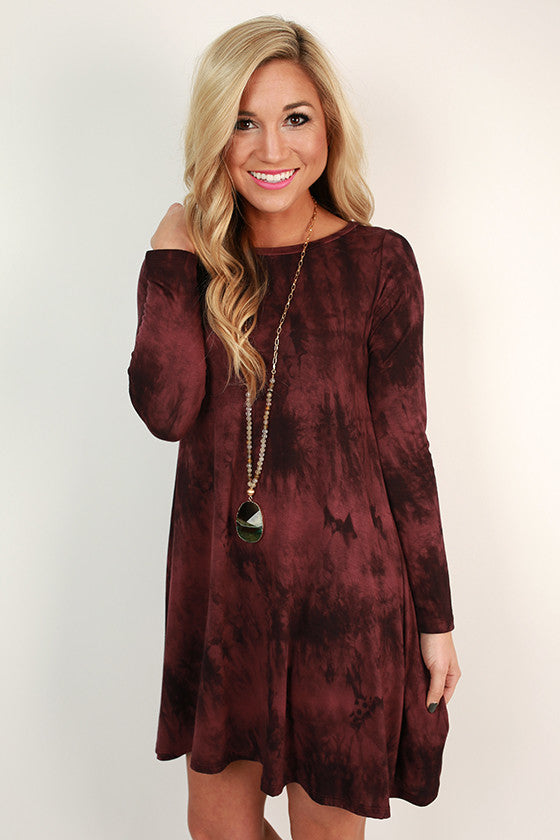 Southern Sweetness Shift Dress in Maroon