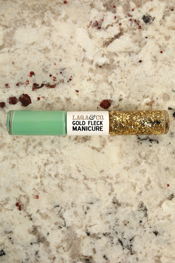 Lacey Mint Gold Fleck Manicure Duo Pen