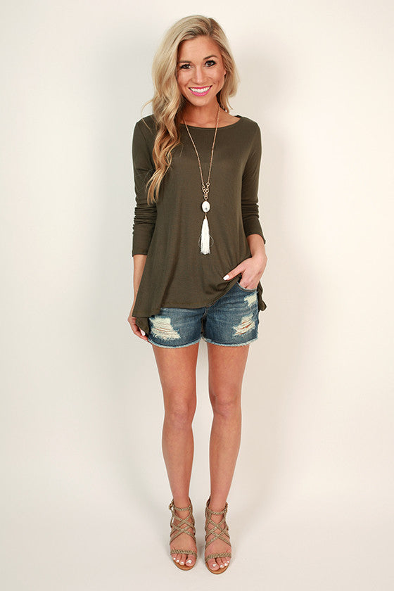 Travel in Style Tee in Army Green