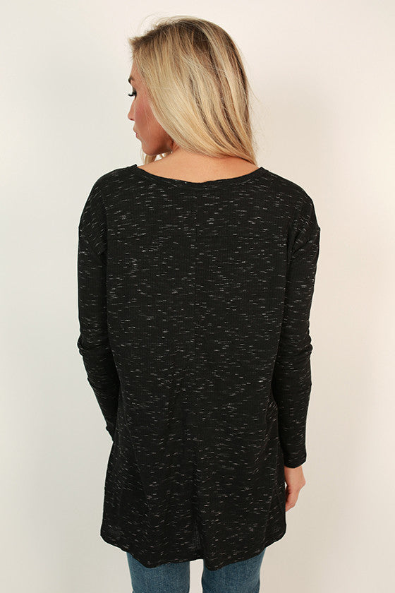 Cottage Cuddles Top in Black