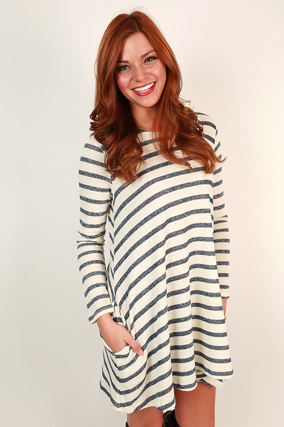 Twirl & Stripe French Terry Shift Dress