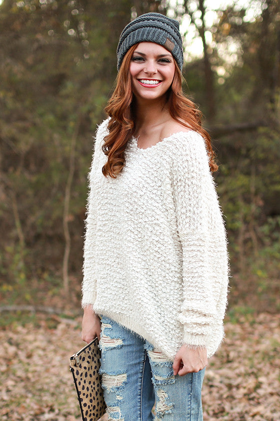 Cocoa & Cuddles Ultra Soft Sweater in Ivory