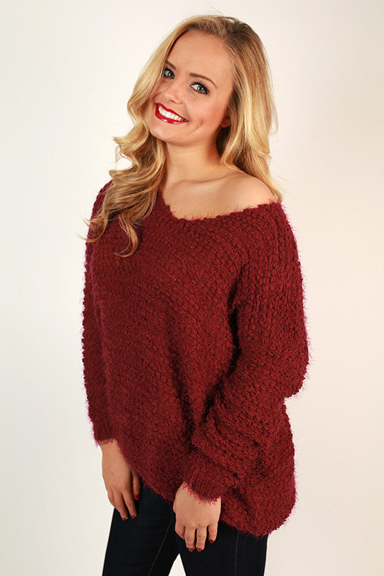 Cocoa & Cuddles Ultra Soft Sweater in Sangria
