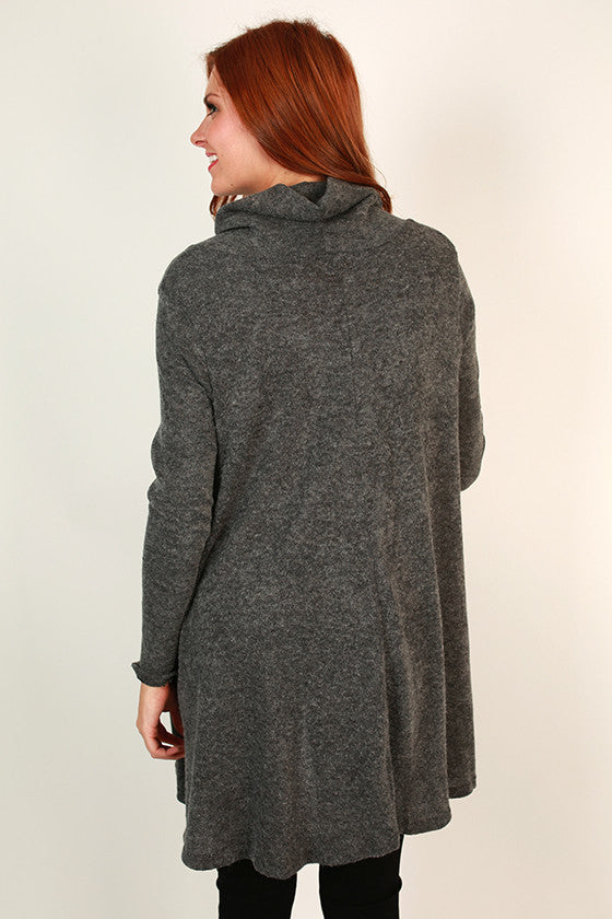 Fall Soiree Tunic in Charcoal