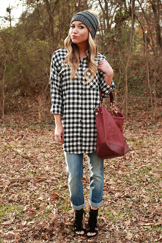 Swing Dance Plaid Top in White
