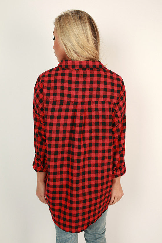 Swing Dance Plaid Top in Red